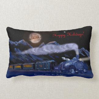 Steamin' Thru the Holidays Christmas Pillow