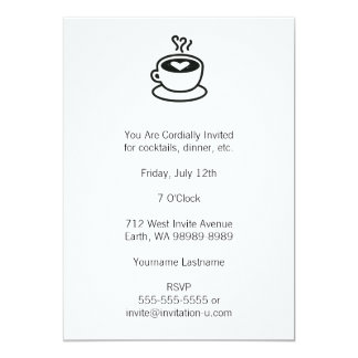 Steaming Coffee Cup with Heart Design Card