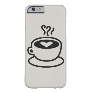 Steaming Coffee Cup with Heart Design (worn style) Barely There iPhone 6 Case