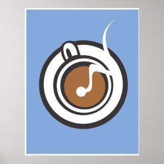 Steaming Coffee Mug Poster
