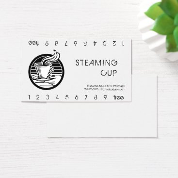 coffeepunch Steaming Cup in Hand Logo Punch Card