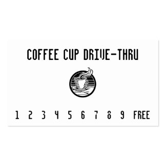 Steaming Cup in Hand Punchcard Double-Sided Standard Business Cards (Pack Of 100)