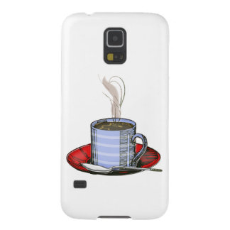 Steaming Cup of Coffee Cases For Galaxy S5