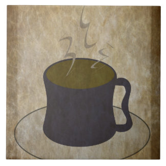 Steaming Cup of Coffee Ceramic Tile