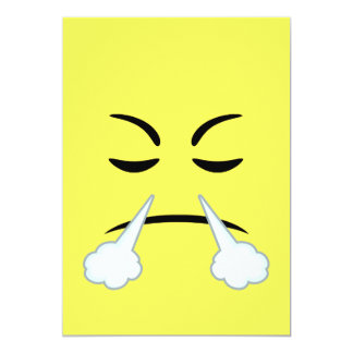 Steaming Emoji Card