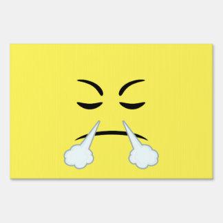 Steaming Emoji Lawn Sign
