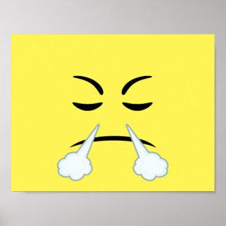 Steaming Emoji Poster