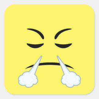 Steaming Emoji Square Sticker