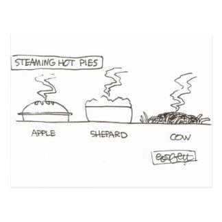 Steaming hot pies< Apple, Shepard, COW Postcard