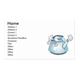 steaming tea pot kettle Double-Sided standard business cards (Pack of 100)