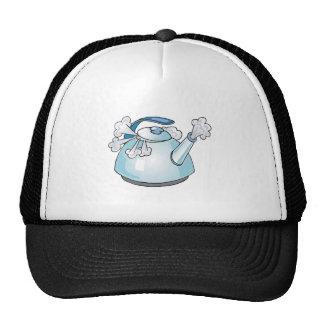 steaming tea pot kettle mesh hat