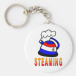 Steaming Teapot - Tea Party Keychains