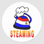 Steaming Teapot - Tea Party Sticker