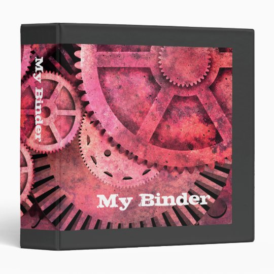 Steampink Pink Steampunk Binder