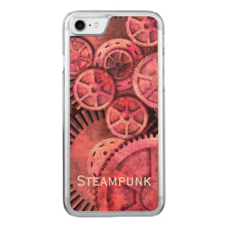 Steampink - Pink Steampunk Carved iPhone 7 Case