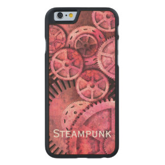 Steampink - Pink Steampunk Carved Maple iPhone 6 Slim Case