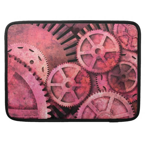 Steampink Pink Steampunk Sleeves For MacBook Pro