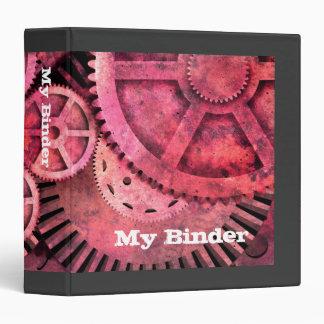 Steampink Pink Steampunk Vinyl Binders
