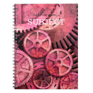 Steampink Steampunk rosado Cuadernos
