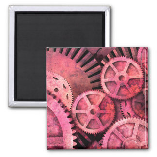 Steampink Steampunk rosado Imán De Frigorífico
