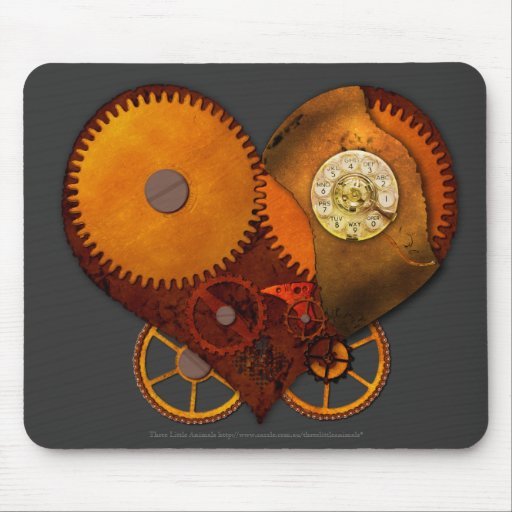 SteamPoly Mousepad - corazón del mecanismo