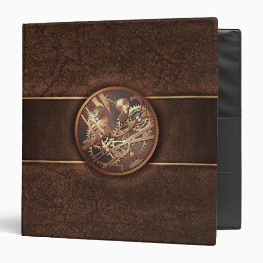 steampunk 1.5in binder to personalize