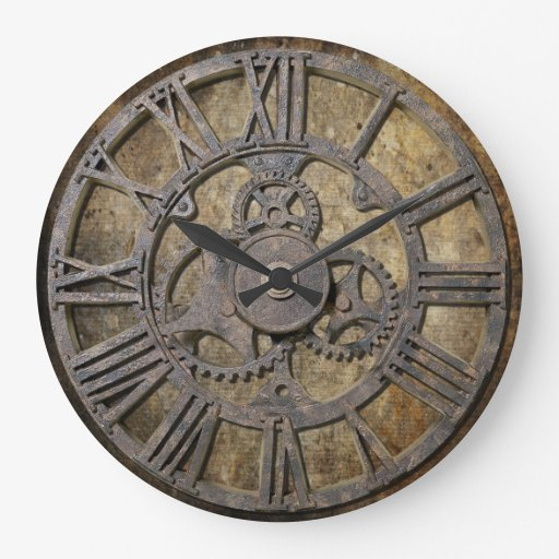 Steampunk 1 large clock zazzle - Antique clock designs for your home ...