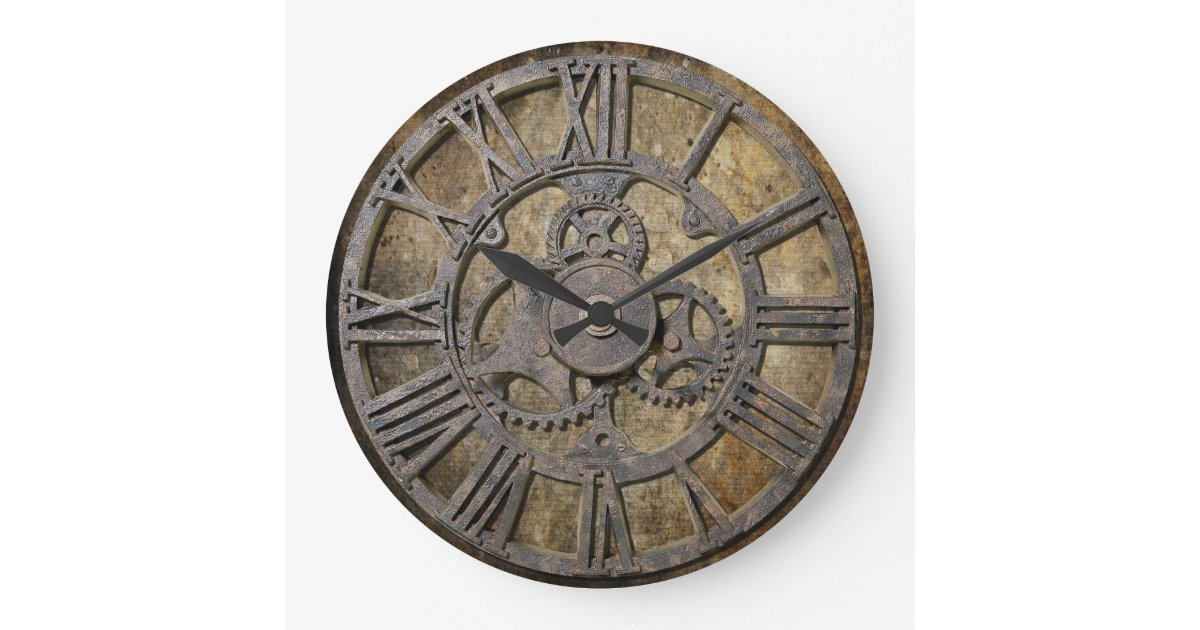 Steampunk 1 Large Clock