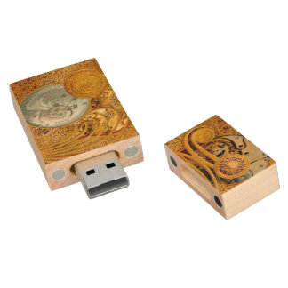 Steampunk 1 - USB Thumb Drive Wood USB 2.0 Flash Drive