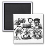steampunk 2 inch square magnet