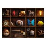 Steampunk - A box of curiosities Custom Invitations