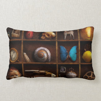 Steampunk - A box of curiosities Lumbar Pillow