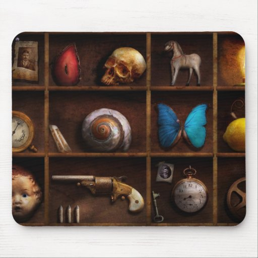 Steampunk - A box of curiosities Mouse Pad