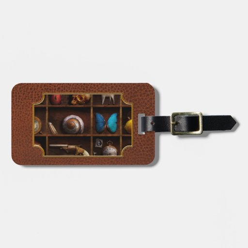 Steampunk - A box of curiosities Tag For Luggage