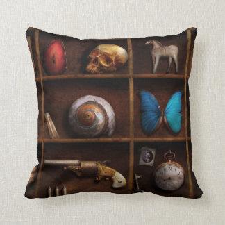 Steampunk - A box of curiosities Throw Pillows