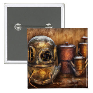 Steampunk - A collection from my Journeys 2 Inch Square Button