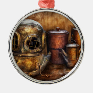 Steampunk - A collection from my Journeys Round Metal Christmas Ornament