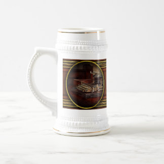 Steampunk - A crusty old typewriter Beer Stein