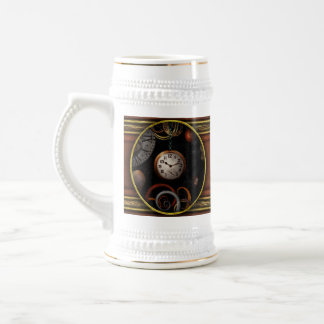 Steampunk - Abstract - The beginning and end Beer Stein