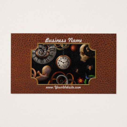 Steampunk - Abstract - The beginning and end Business Card