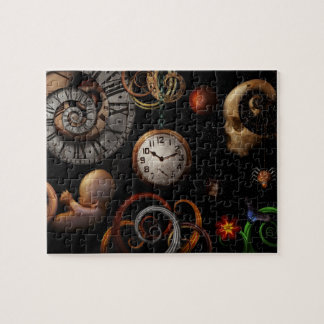 Steampunk - Abstract - The beginning and end Jigsaw Puzzles