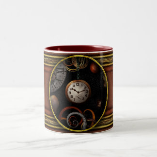 Steampunk - Abstract - The beginning and end Two-Tone Coffee Mug
