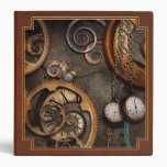 Steampunk - Abstract - Time is complicated 3 Ring Binders