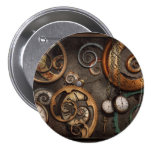 Steampunk - Abstract - Time is complicated Pinback Button