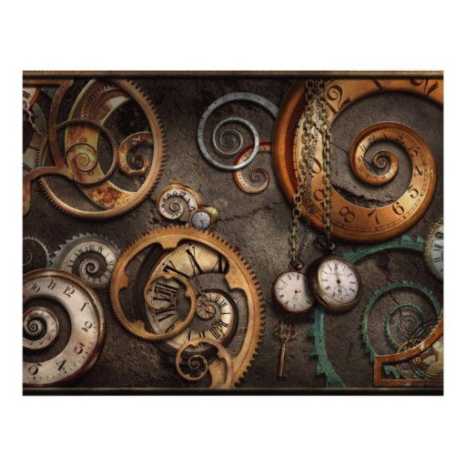 Steampunk - Abstract - Time is complicated Flyers