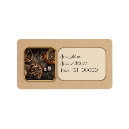 Steampunk - Abstract - Time is complicated Label