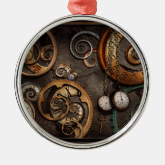 Steampunk - Abstract - Time is complicated Ornaments