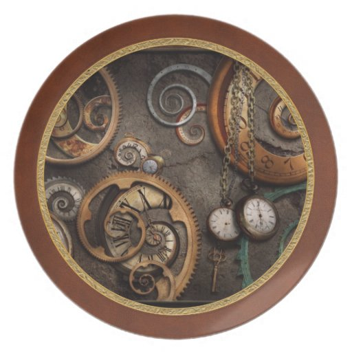 Steampunk - Abstract - Time is complicated Party Plate