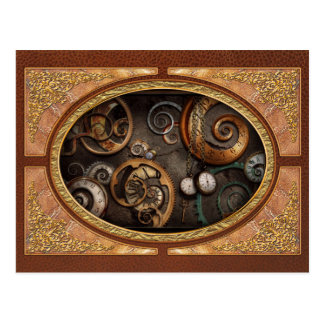 Steampunk - Abstract - Time is complicated Postcard