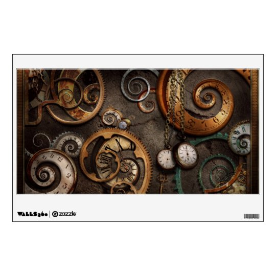 Steampunk - Abstract - Time is complicated Wall Sticker